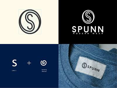 SPUNN - Fashion brand fashion visual motion letter identity slogan design logo