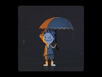 Rainy Day motion motion design design loop cartoon illustration animation ae after effects 2d