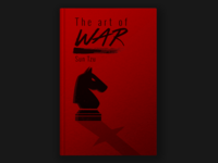 The Art of War book cover graphic design cover book design illustration 2d
