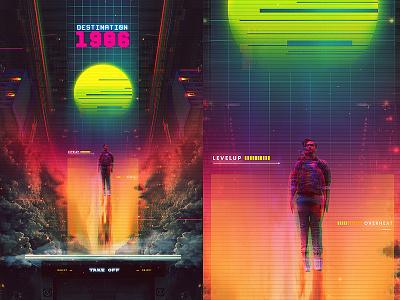 Synthwave Destination 1986 retro rad neonoir glitch vhs cyberpunk retrofuture dreamwave retrowave synthwave 90s 80s