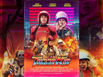 Turbo Kid Fan Art Poster rad retro 90s 80s synthpop cyberpunk synthwave movie poster poster fanmade fanart turbo kid
