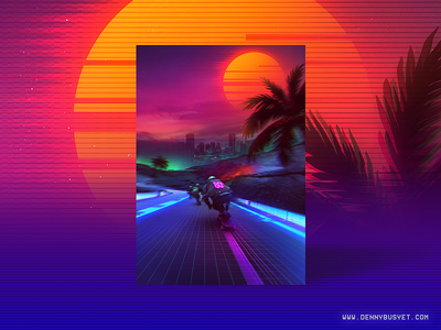 Synthwave : Midnight Outrun synthpop rad vaporwave aesthetic eighties 1980s 80s outrun retrowave synthwave