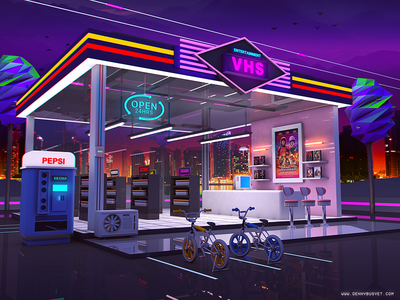 VHS Video Store vhs rad vaporwave aesthetic eighties 1980s 80s outrun retrowave synthwave