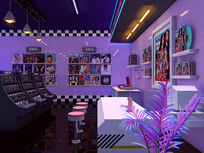 80's Records Store cassette rad vaporwave aesthetic eighties 1980s 80s outrun retrowave synthwave