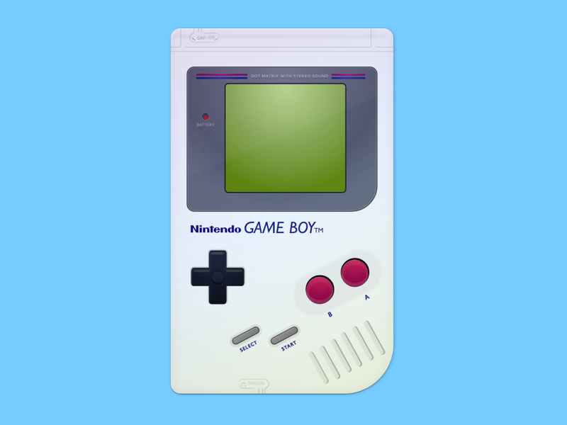Sketch - Vector Game boy illustration console gameboy vector sketch