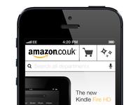 Amazon Mobile Website Concept 2