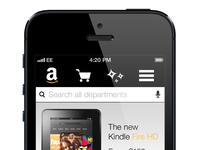 Amazon Mobile Website Concept 3