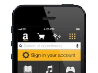 Amazon Mobile Website Concept 4