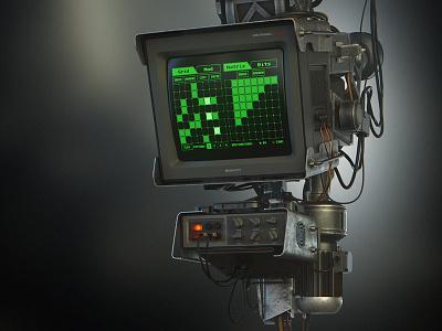 Electronica-BM illustration ui music computer retro console 3d