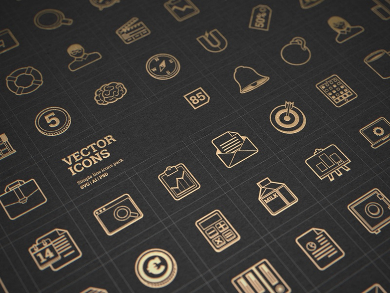 Free vector icons presentation marketing vector web download free icons