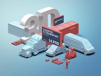 3D infographics kit