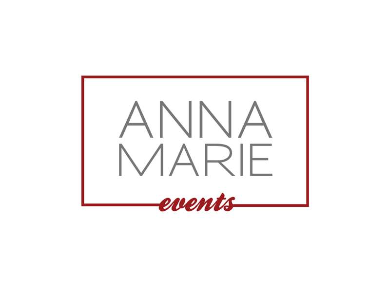 Anna Marie Events Logo event planner logo design