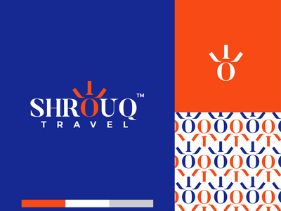 Shrouq debut logo design modern minimal pattern rise mark icon identity travel typeface branding abstract
