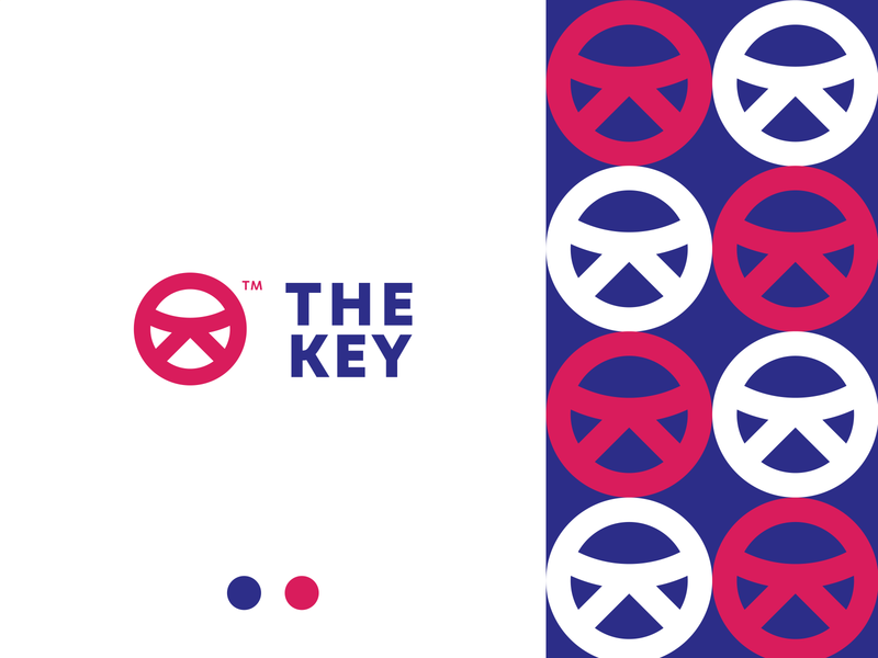 The Key | Car Rental Services concept clean blue brand abstract minimal logo design design branding logo icon
