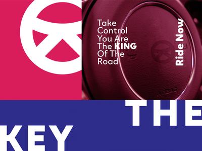 The Key | Car Rental Services clean blue brand abstract minimal logo design design branding logo icon