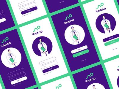 4 Nono | Medical App. flat app ui illustration brand minimal design branding logo icon