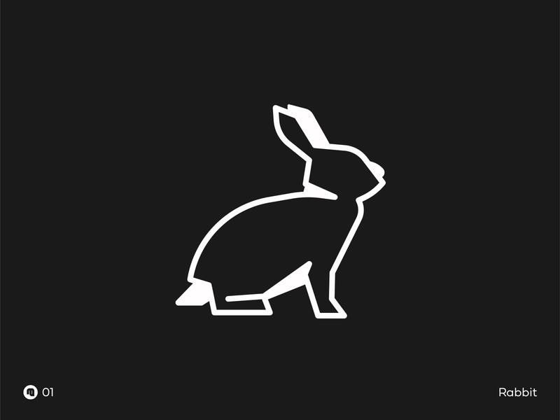 01 Rabbit animal illustration animal logo rabbit animal minimal vector illustration design branding logo icon