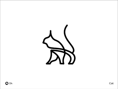 Day 04 | Cat logo designer logo art debut branding black cat mark illustrations icon flat