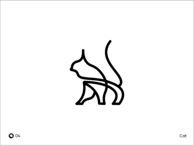 Day 04 | Cat logo designer logo art debut branding black cat mark illustrations icon flat