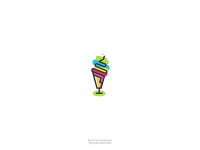 Egyptian Daily Icon Challenge 004 ice cream logo logo icon colorful cone icecream lollipop
