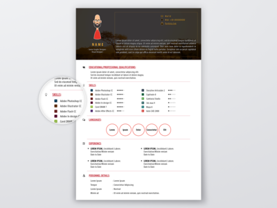 Awesome Flat Vector Banner Resume