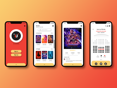 Cinema App UI UX