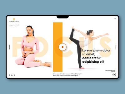 Landing Page - Yoga UI Design