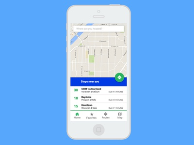 Concept for bus app