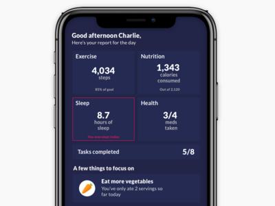 Wearables dashboard app