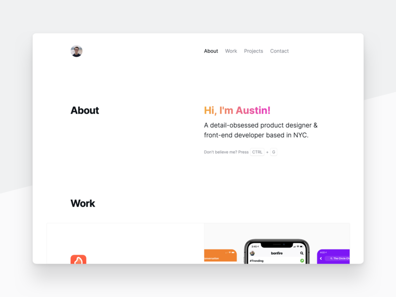 2020 Personal Website 🎨