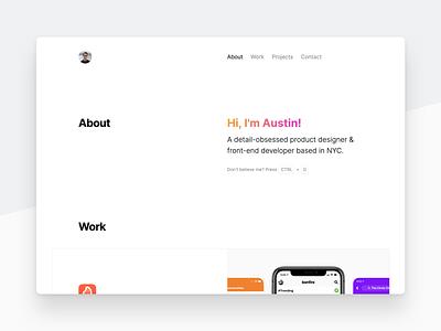 2020 Personal Website 🎨 grid personal gradient ux ui design web website
