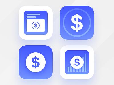 Influencer Marketing App Icon dollar sign app app icon cash