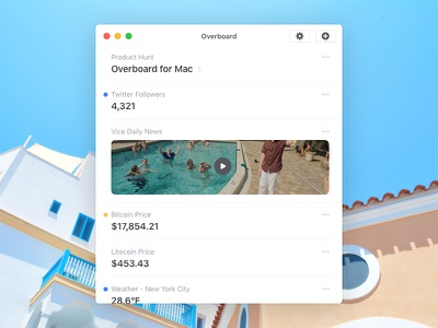 Overboard for Mac 🤔 weather crypto product hunt followers app mac app mac overboard