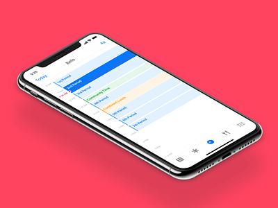 Hallway App → Bells ✨ app ios calendar day calendar day schedule bells