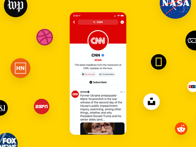 Bonfire Channels ⚡️ community themed ios 13 iphone ios app social feed subscribe group camp profile posts news cnn channel
