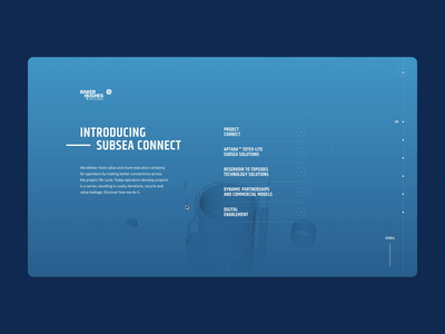 SC Diving interactive webdesign interaction animation type grid 3d ui website layout