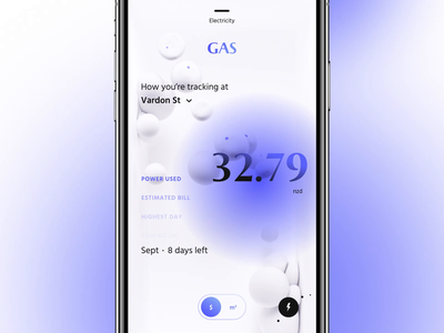 POW App - Energy Insights font scroll interactive interaction animation type grid 3d ui layout