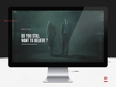 The XFiles - Concept 01  layout type loader loading experience interactive tv show website the x-files