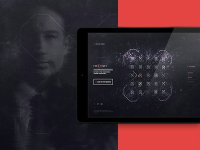The XFiles - Concept 02 ipad webgl layout type experience interactive tv show website the x-files