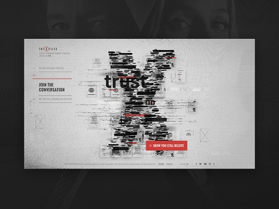 The XFiles - Final Concept secret documents webgl layout type experience interactive tv show website the x-files