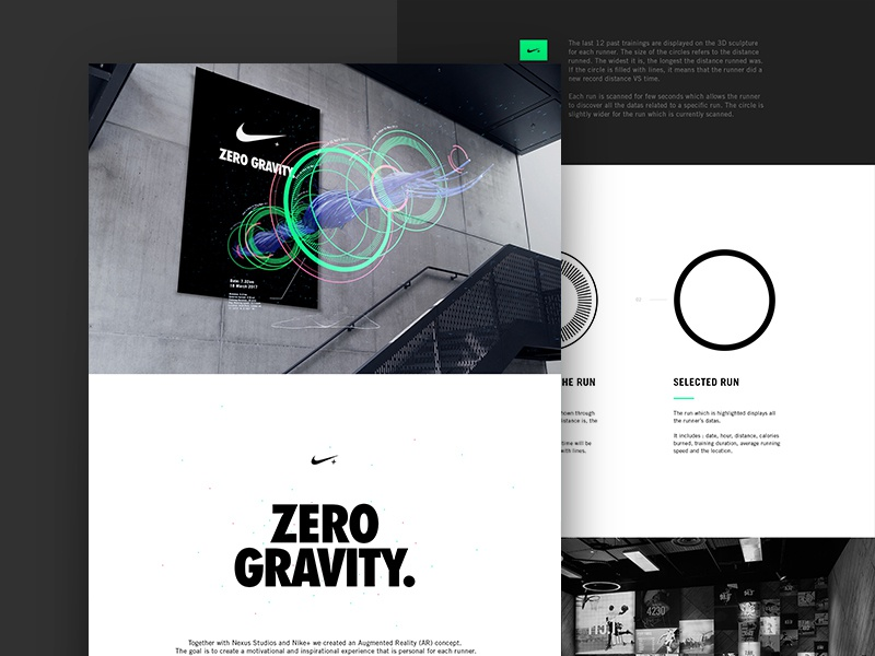 Nike Zero Gravity Case 04 icons augmented reality sculpture innovative font type layout c4d 3d datas data visualization nike