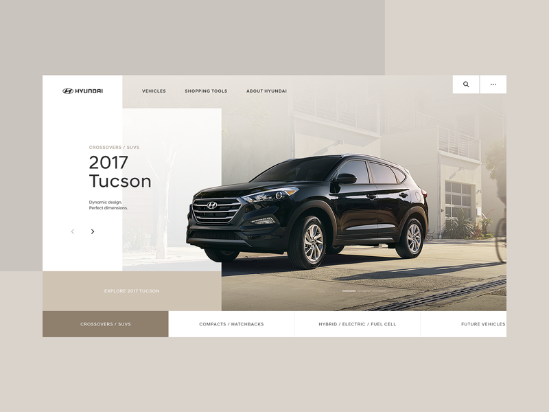 Hyundai Homepage Desktop - Concept 01 interactive typography webdesign design interaction ui type grid website layout