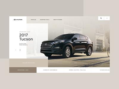 Hyundai Homepage Desktop - Concept 01 interactive typography webdesign design interaction ui type grid website layout