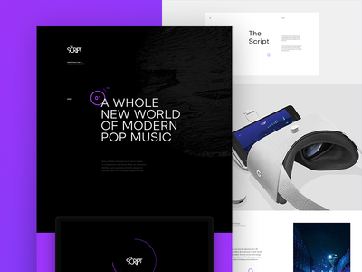 The Script Case Study interactive 3d website webdesign ui typography layout