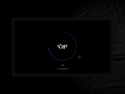The Script - Intro animation interaction ui webdesign atmosphere space planet 3d website