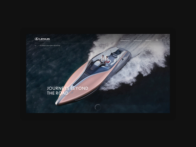 Lexus - Journeys Beyond The Road interactive scroll interaction webdesign 3d animation grid ui layout website