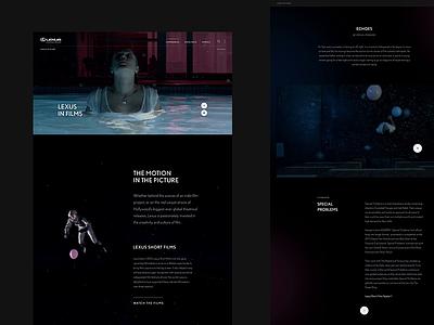 Lexus in Films scroll interactive grid type webdesign animation ui website layout