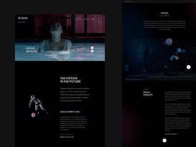 Lexus in Films scroll interactive grid type webdesign animation ui website layout