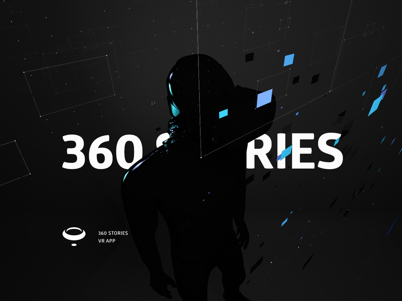 360 Stories - Key Visual headset illustration type branding virtualreality 3d