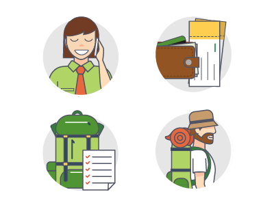 Icons for Site about Tourism